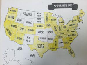 State Checklist Map